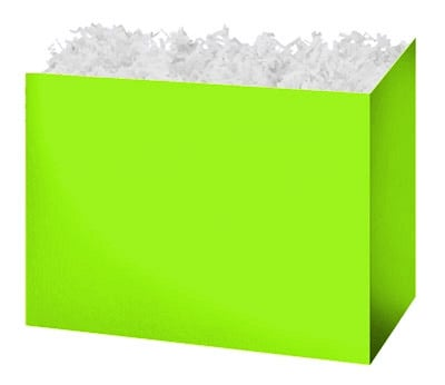 Gift Basket Boxes Lime Green