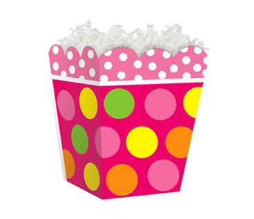 "Sweet Treat Box Citrus Dots 4"" x 4"" x 4½"""