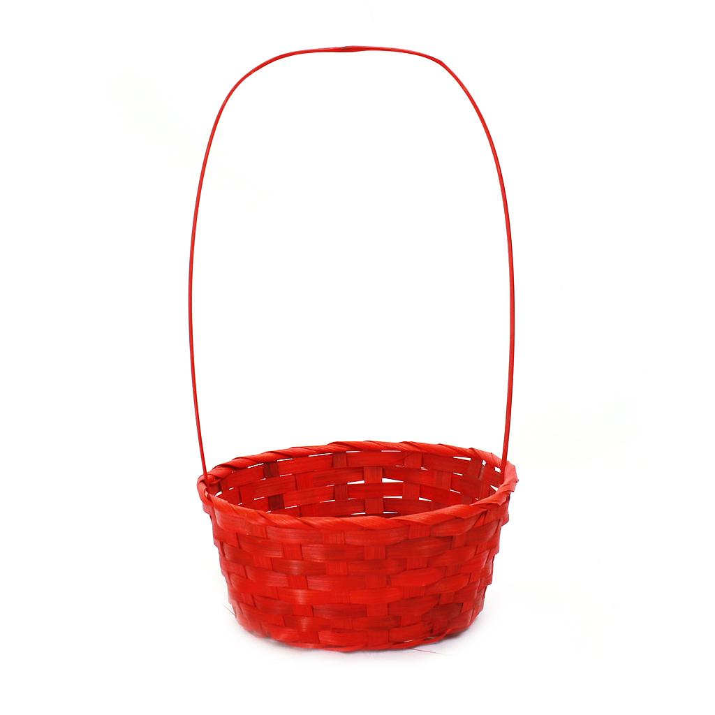 Red Round Bamboo Baskets