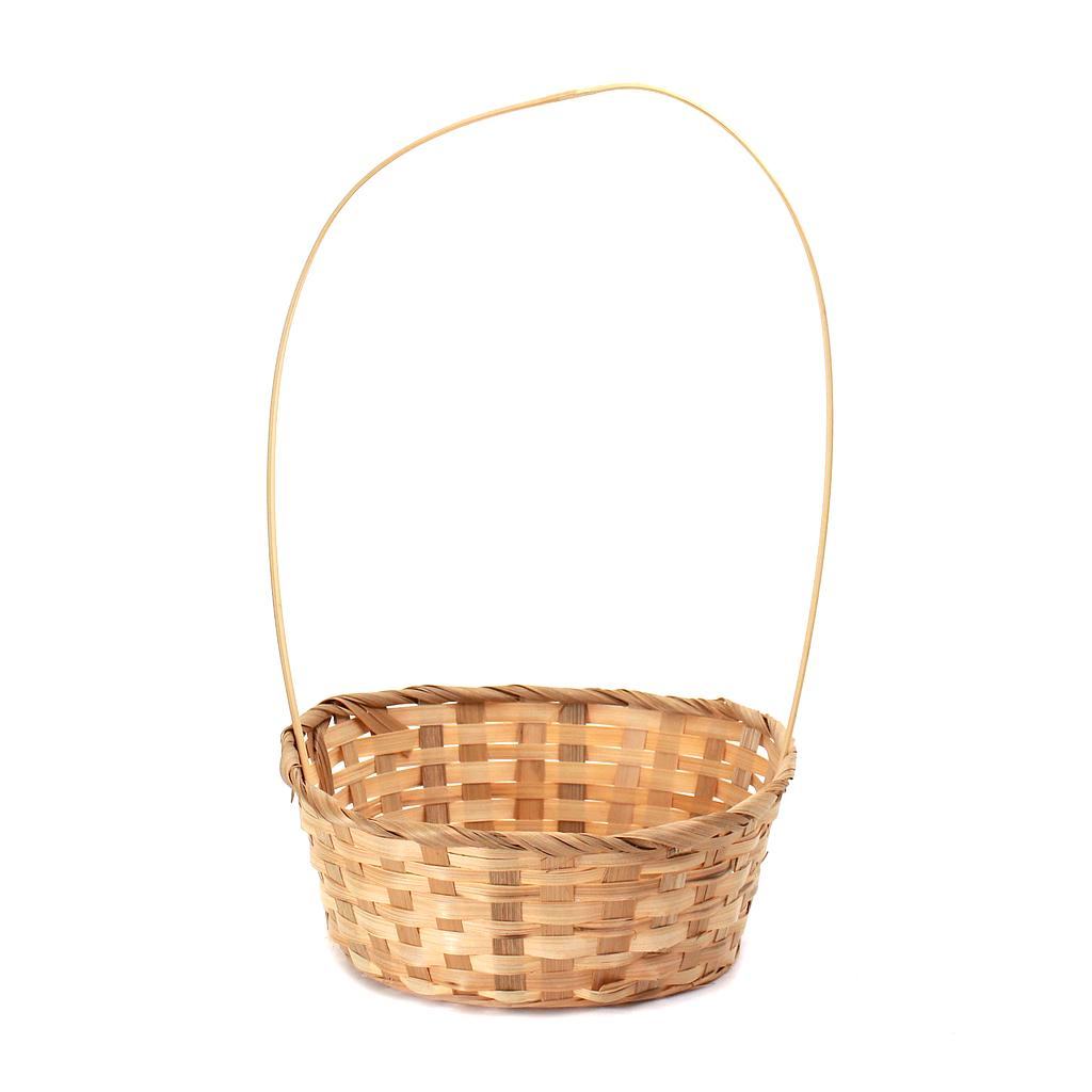 Natural Round Bamboo Baskets