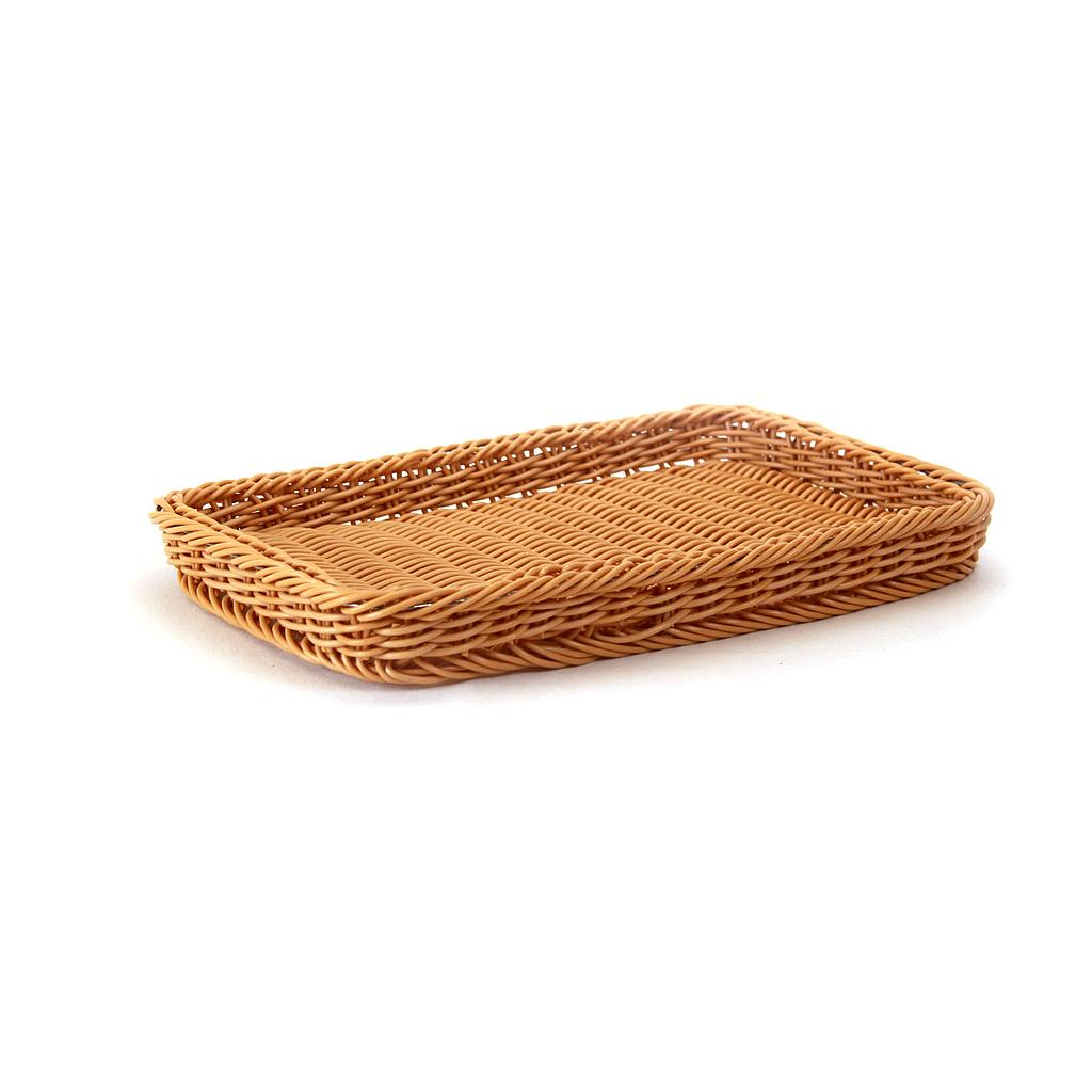 Wicker Basket - Plastic Rectangular- Brown