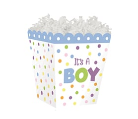 "Sweet Treat Box ""It's A Boy"" 4"" x 4"" x 4½"""