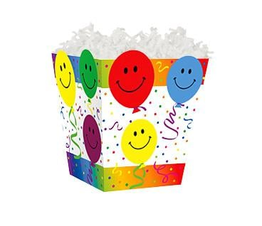 "Sweet Treat Box Smiley Balloons 4"" x 4"" x 4½"""