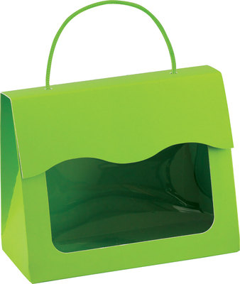 "Small Gourmet Window Gift Totes Lime Green 5 1/8"" x 2 5/8"" x 4¼"""
