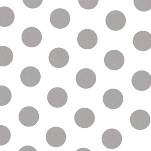 "Tissue Paper Silver Dots 20"" x 30"" (240 Sheets)"