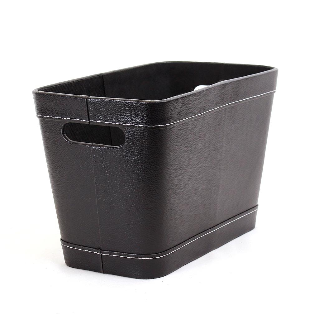 Black Faux Leather Container