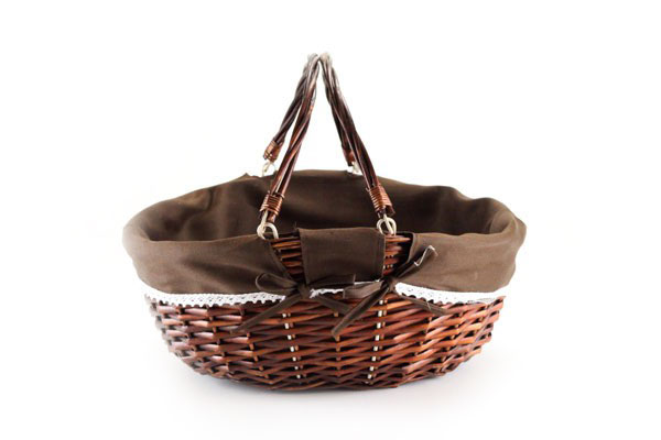 "Shopping Basket With Brown Liner 17"" x 13½"" x 6"""