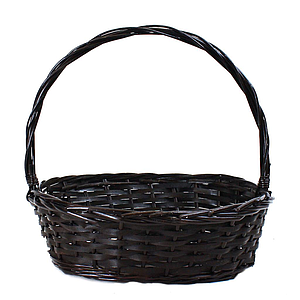 Buy wholesale christmas baskets containers almacltd oval brown basket with handle negle Gallery