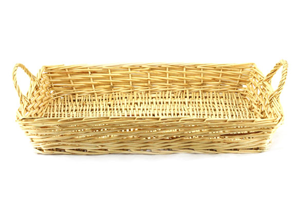 "Rectangular Basket  With Handles 19"" x 14"" x 3"""