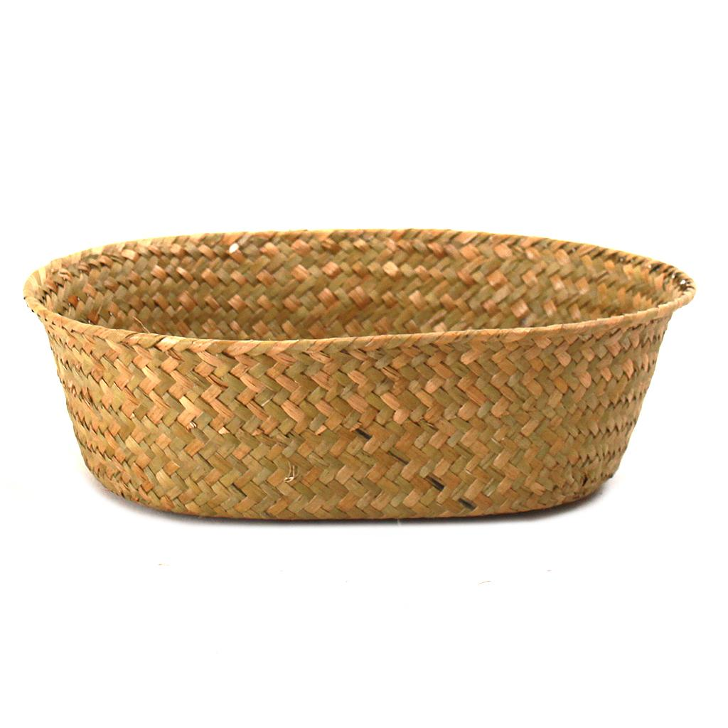 "Natural Oval Basket 12"" X 9.5"" X 3.5"""