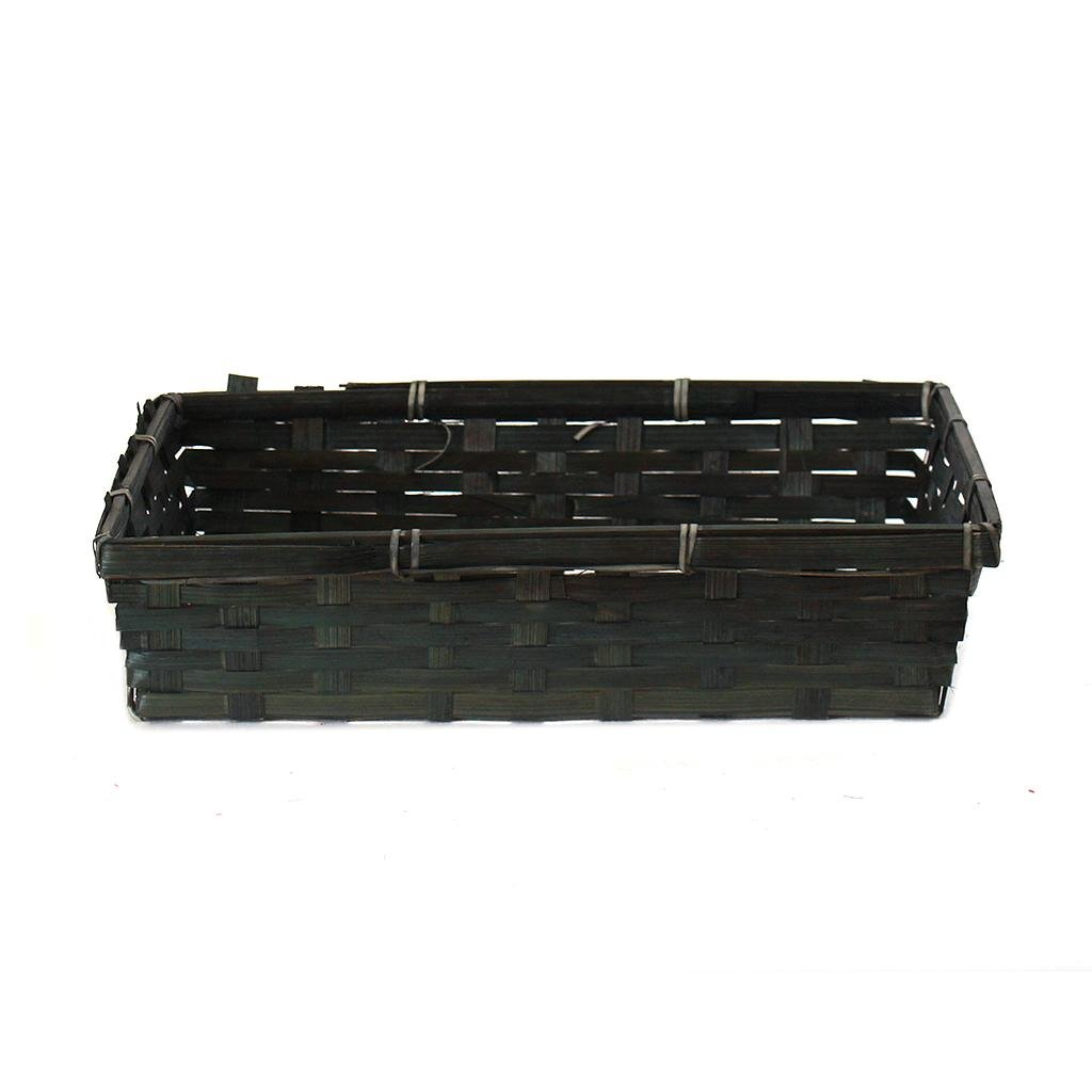 "Black Rectangular Basket 12.5"" x 9.5"" x 3"""