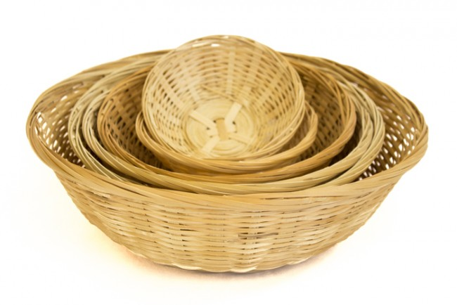 Round Bamboo Bread Baskets