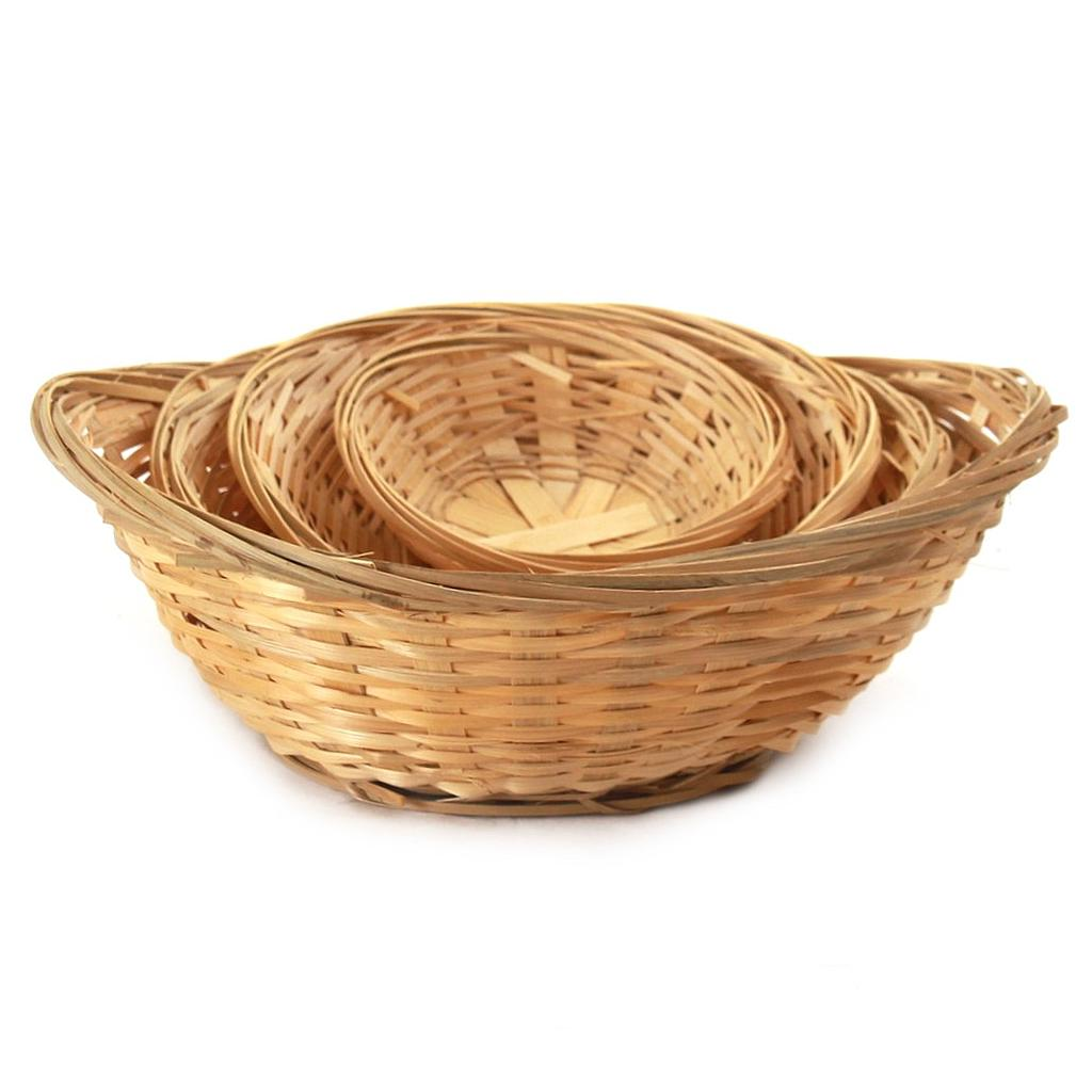 Oval Bamboo Bread Baskets