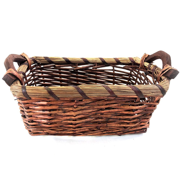 Buy Rectangular Dark Brown Baskets With Handles 5644