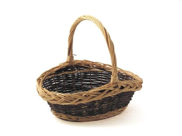 Oval  Baskets -Tone With Handle