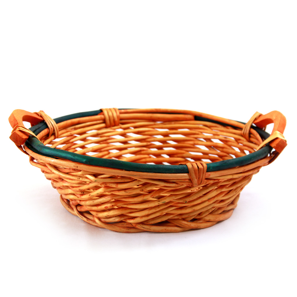 Round 2-Tone Baskets With Handles