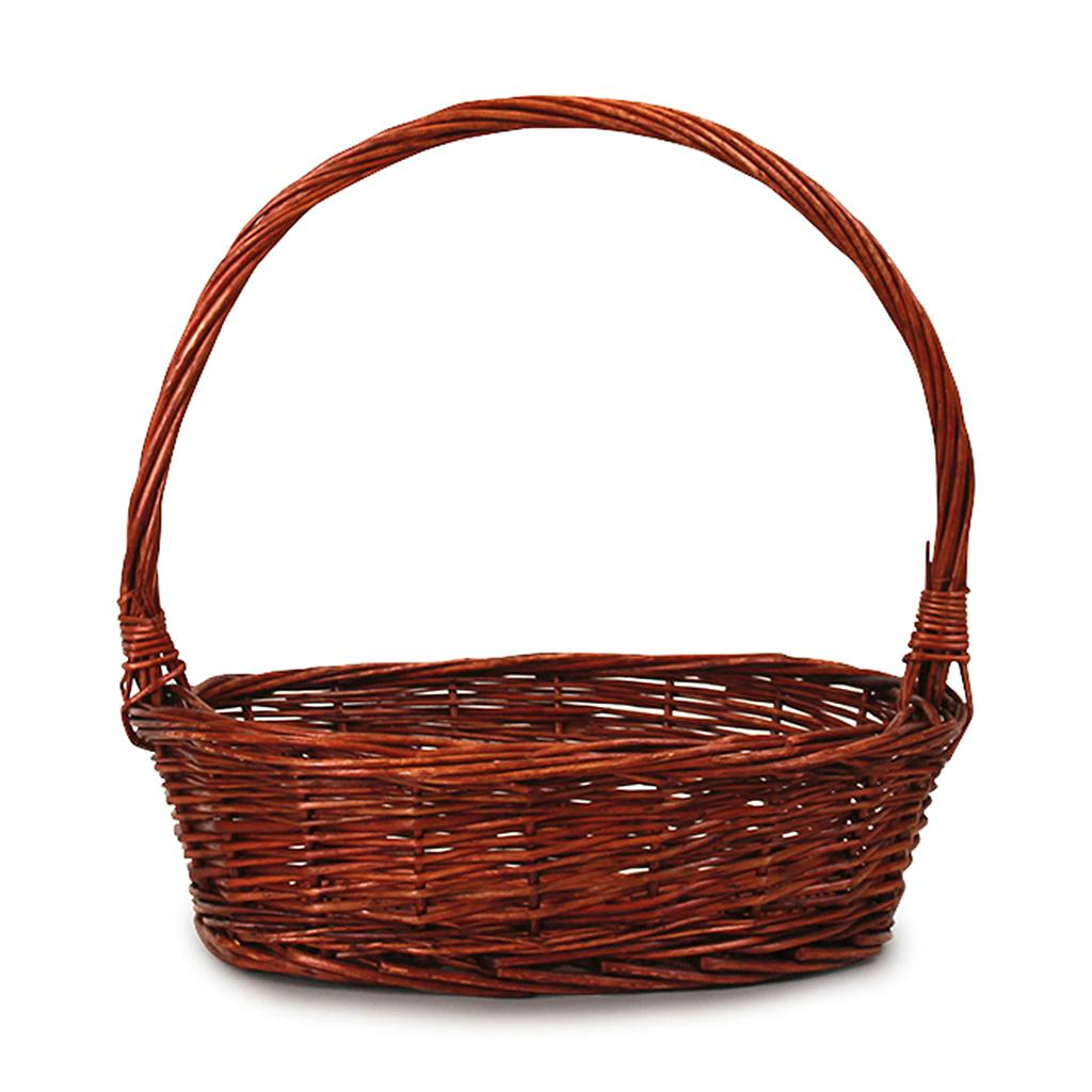 Lacquered Oval Baskets With Handle