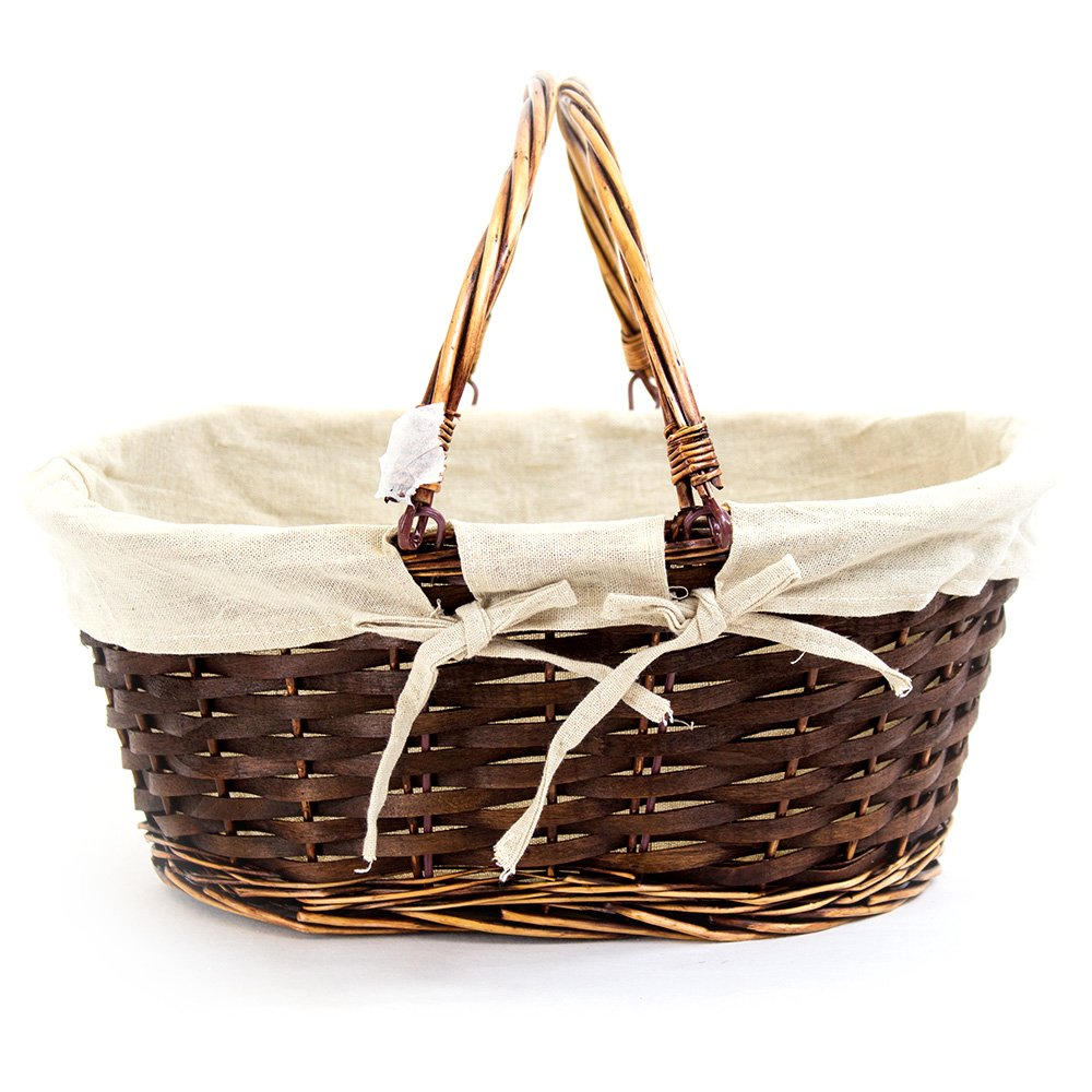Oval Brown Shopping Baskets