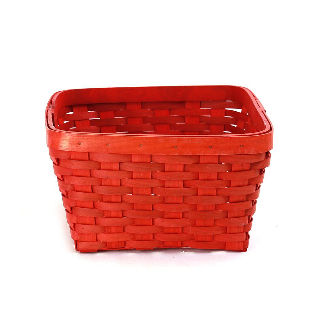 Red Rectangular Baskets
