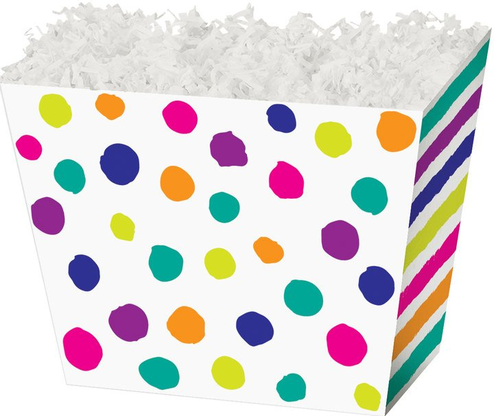 Painted Dots and Stripes Angled Box