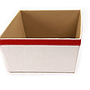 "White Fabric Container 12"" x 9.5"" x 4.75"" close"