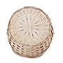 Antique White Round Baskets with Handle bottom