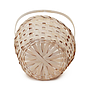 White Round Bamboo Baskets bottom