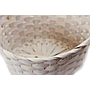 White Round Bamboo Baskets close-up