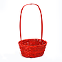 Red Round Bamboo Baskets side