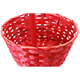 Red Round Bamboo Baskets close-up