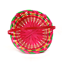 Multi Coloured Round Bamboo Baskets top