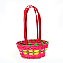 Multi Coloured Round Bamboo Baskets group
