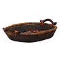 "Oval Basket 2-Tone With Handles 19"" x 15½"" x 3"" side"