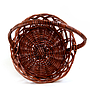"Round Brown Basket With Handle 10"" x 4"" top"