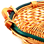 Round 2-Tone Baskets With Handles close