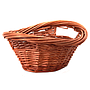 Brown Oval Baskets side