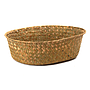 "Natural Oval Basket 12"" X 9.5"" X 3.5"" side"
