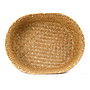 "Natural Oval Basket 12"" X 9.5"" X 3.5"" top"