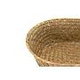 "Natural Oval Basket 12"" X 9.5"" X 3.5"" close"