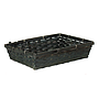 "Black Rectangular Basket 12.5"" x 9.5"" x 3"" side"