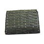 "Black Rectangular Basket 12.5"" x 9.5"" x 3"" bottom"