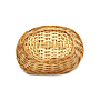 "Lacquered Oval Bread Basket 9"" x 7"" x 2½"" bottom"