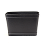 Black Faux Leather Container front