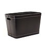 Black Faux Leather Container side