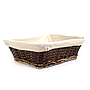 Rectangular Dark Brown Baskets Side