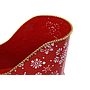 "Red Metal Sleigh With Snowflakes 11¼"" x 5¾"" x 7½"" close"