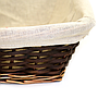 Rectangular Dark Brown Baskets Close