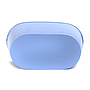 "Oval Light Blue Metal Planter 13½"" x 7½"" x 6"" bottom"