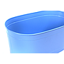 "Oval Light Blue Metal Planter 13½"" x 7½"" x 6"" close"
