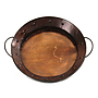 Round Metal Tray With Handles top